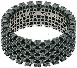 Heraldic Check Sterling Silver Ring
