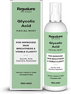 Rejusure Glycolic Acid Face Mist Toner, For Improved Skin Brightness & Visible Clarity, 100 ml
