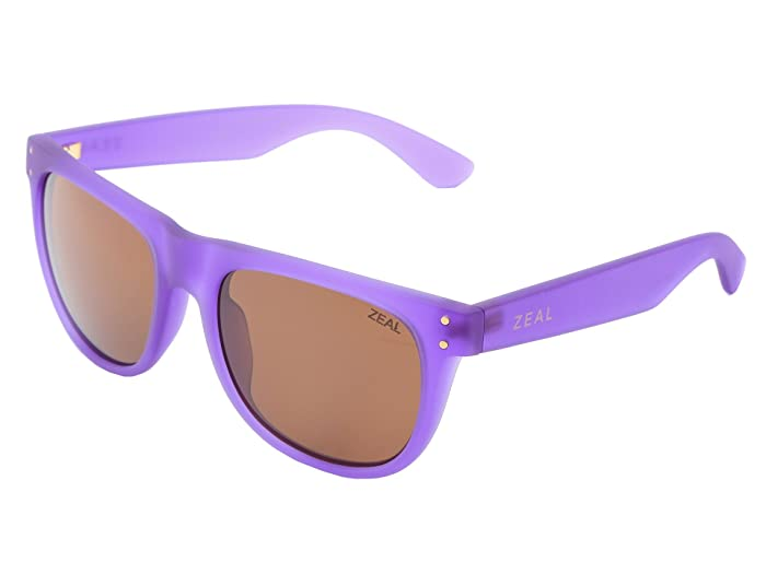 Zeal Optics  Ace (Deep Purple w / Copper Polarized Lens) Athletic Performance Sport Sunglasses