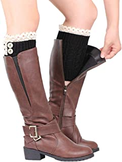 Socks, FORUU 1 Pair of Womens Lace Stretch Boot Leg Cuffs Leg Warmers Topper Cuff