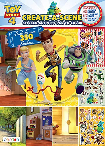 Toy Story Disney 4 Create-A-Scene Sticker Pad and Sticker Scenes 45677, Bendon