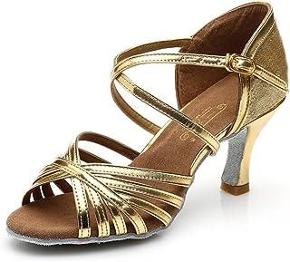 ff73e3ec XUE Zapatos Latinos para Mujer/Zapatos de salón/Zapatos de salón de Baile  Sandalias