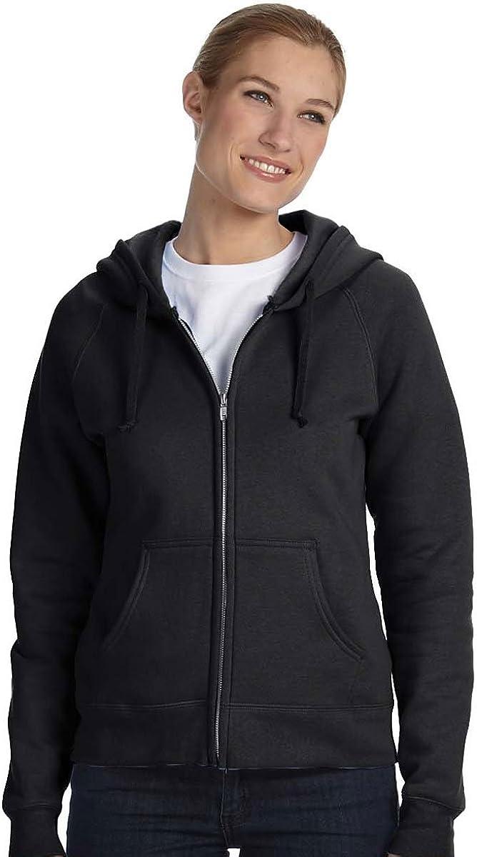 Hanes Ladies' 8 oz., 80/20 Full-Zip Hood>2XL BLACK W280