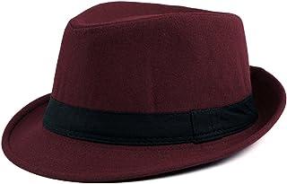 Ayliss Trilby Fedoras Panama Jazz Hat Short Brim Bowler Hat for Men/Women