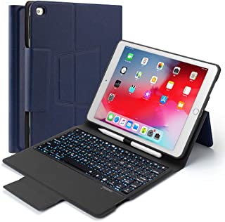Beeasy iPad 9.7 inch Keyboard Case with Pencil Holder for iPad 2018 6th Generation (Model :A1893 A1954)-iPad 5th Generation 2017 (A1822 A1823)-iPad Air 2 (A1566 A1567)-iPad Air(A1474 A1475 A1476),Blue