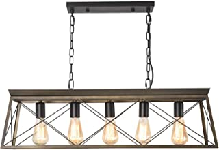 ISRAMP Modern Farmhouse Linear Kitchen Island Lighting,...