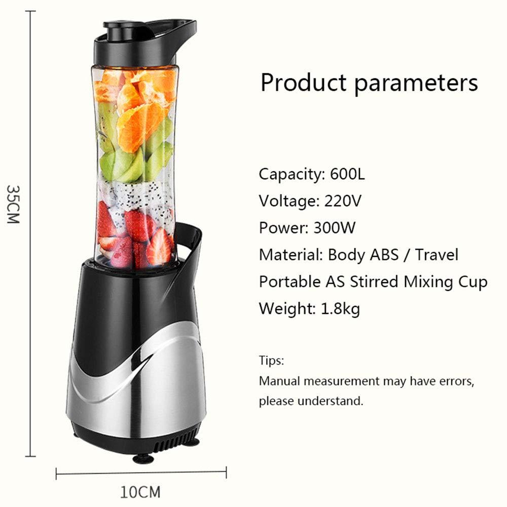 WAZS Robot de Cocina, Licuadoras para Zumos Portatil con Botella de Viaje de 600ml Adecuada para Fitness, Viajes, Escuela, Refrigeración de Alimentos para Bebés: Amazon.es: Hogar