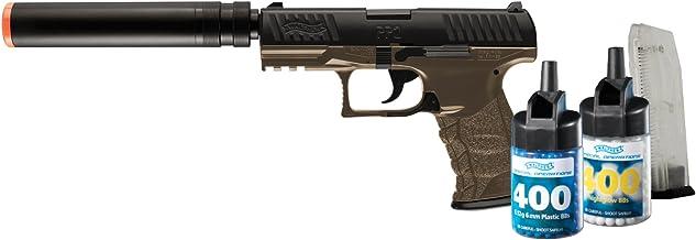 Walther PPQ 6mm BB Pistol Airsoft Gun, Combat Kit (Gun, 800 BBs and 2 Mags)