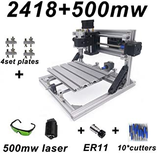 XINTONGRULE CNC Engraving Machine, Wood Sculpting Machine, DIY 3 Axis Laser Engraver with 500mW Laser Head, PCB Milling Machine, DIY Craving Tool with Offline Control