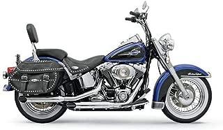 Bassani Xhaust 07-17 Harley FLSTC Firepower Slip-On Exhaust with Baffles (Chrome Slash-Cut)