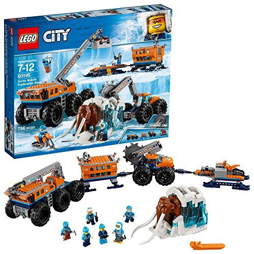 LEGO City Arctic Mobile Exploration Base 60195 Building Kit, Snowmobile Toy and Rescue Game (786 Pieces) (Discontinued by Manufacturer)