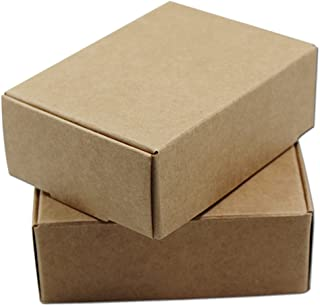 20Pcs Brown Kraft Paper Boxes Crafts Gifts Candy Handmade Soap Packaging Boxes Cardboard Small Size Rectangle Reusable Wedding Party Supply (8.5x7.5x3.5cm (3.3x3x1.4 inch))