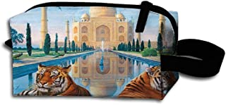 Makeup Cosmetic Bag Beautiful Taj Mahal Illustration Medicine Bag Zip Travel Portable Storage Pouch For Mens Womens