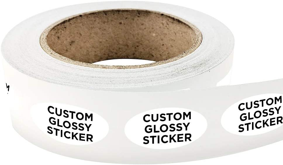 3000 Oval Shape Custom Glossy Roll Label Year-end annual account for Special Campaign Stickers 4