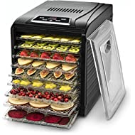Gourmia GFD1650 Premium Electric Food Dehydrator Machine - Digital Timer and Temperature Control - 6 Drying Trays - Perfect for Beef Jerky, Herbs, Fruit Leather - BPA Free - Black (9 Tray)
