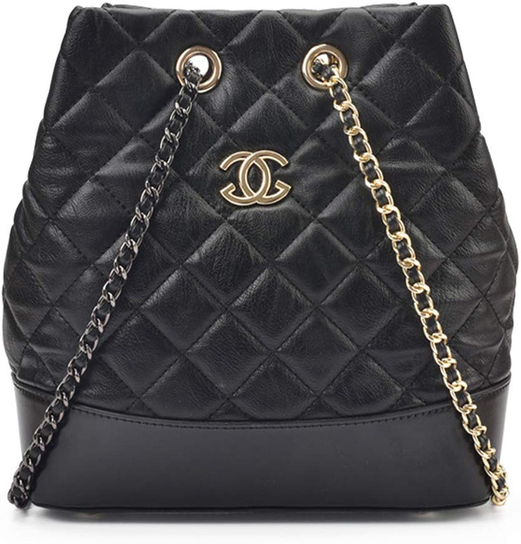 Yuany Frauen 'S Rucksack Mini Frauen' S Tasche Lingge Stickerei Linie Rucksack Fashion Chain Messenger Bag
