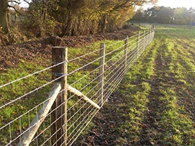 50m of C8/80/15 Stock Fencing for Farms / Cattle / Sheep / Pigs by Farm and Garden