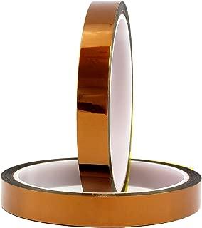HiLetgo 2個セット 20mm 100ft BGA 高温耐熱性 ポリイミド ゴールド テープ [並行輸入品]