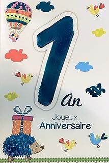 Amazon Fr Carte Anniversaire 1 An