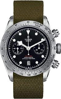 Tudor M79350-0003-004 ブラックベイクロノ グリーンファブリックストラップ メンズウォッチ