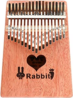 Kalimba 10/17 Keys Portable Thumb Piano with Tune Hammer and Study Instruction, Wood Finger Piano for Kids Adult Beginners