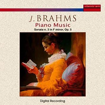 Brahms - Piano Music, Sonata N. 3 Op. 5