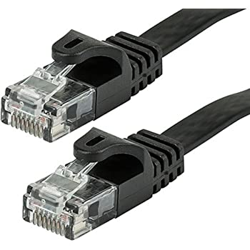 Bootless Cat5e Black Ethernet Patch Cable Sonovin Pack of 5 10 Foot Color:Black