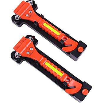 glass fire-fighting window-breaking hammer automotive supplies Red Flame Red 1pcs window-breaking device artifact Mini life-saving hammer multi-functional safety escape hammer