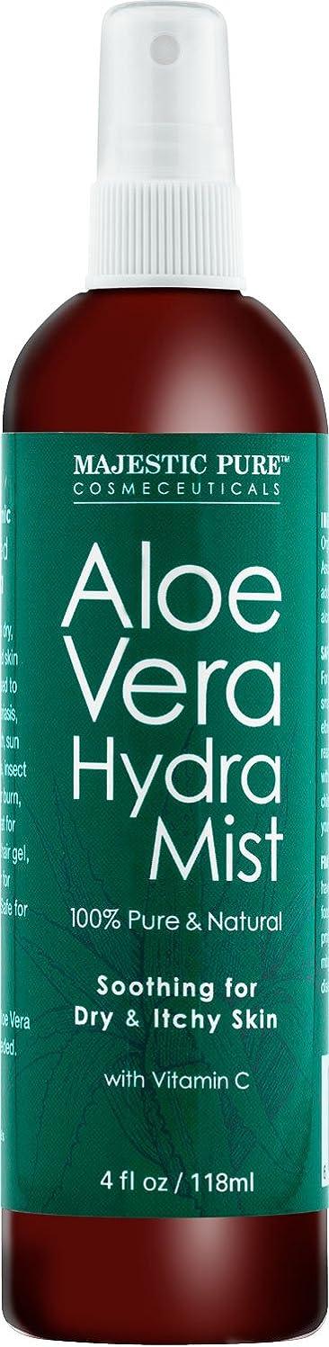 蓮裁判官記憶Aloe Vera Hydra Mist, 100% Pure & Natural smoothing for Dry and Ichhy Skin 4fl. oz. 118ml