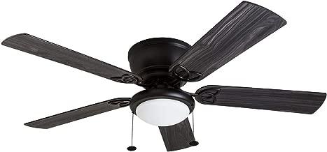 """Prominence Home 50853-01 Benton Hugger Ceiling Fan, 52"""" LED Globe Light Hugger/Low Profile, Matte Black"""