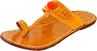 AMPEREUS Ethnic Designer Pure Leather Kolapuri for Girls & Women.