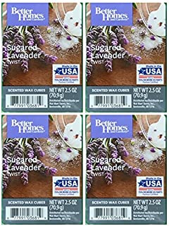 Better Homes and Gardens Sugared Lavender Twist Wax Cubes - 4-Pack