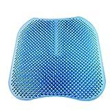 Cojín de gel para asiento Confort de masaje Transpirable Absorbe los puntos de presión Cojín de soporte Buena postura para sentarse para el hogar, la silla de oficina, el cojín del asiento del automóv