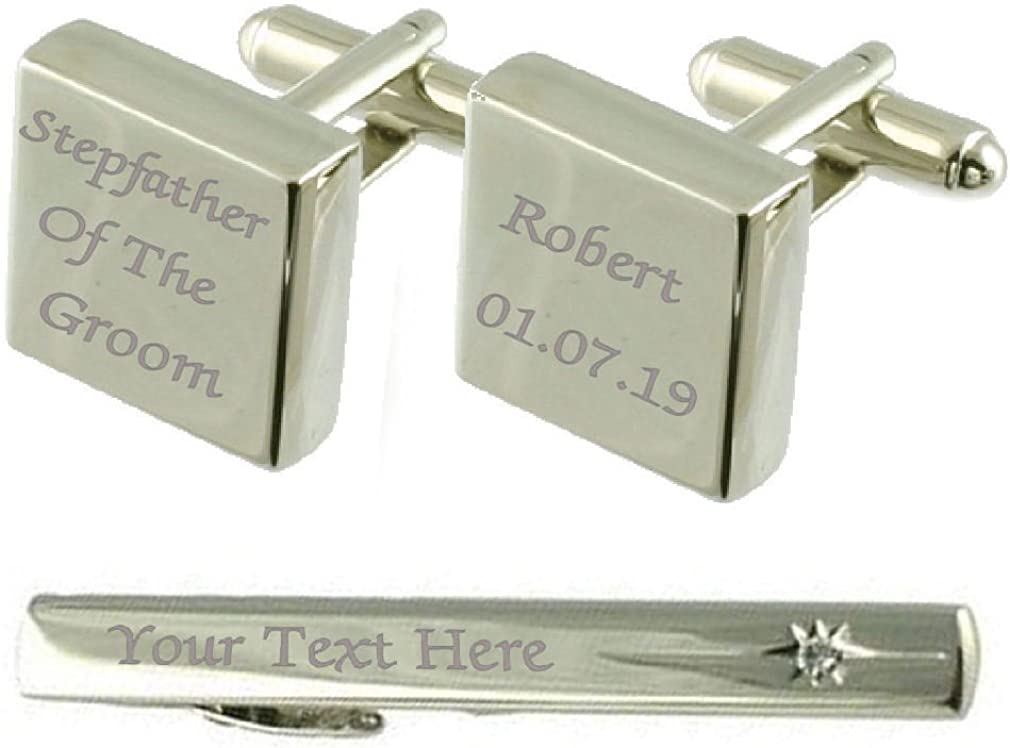 Select Gifts Philadelphia Mall Stepfather of Groom Industry No. 1 Cufflinks Engraved Box Clip Tie