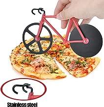 GTWCK [Creative] - Tagliapizza per bicicletta con supporto doppio in acciaio INOX antiaderente, coltello da pizza per la casa, cucina e sala da pranzo, colore: Rosso Rosso