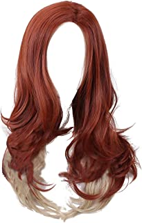 Black Widow Cosplay Hair Wigs - The Avengers 4 Synthetic Long Brown Curly Wig for Women Halloween Anime Accessories