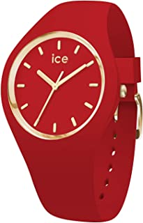 Ice-Watch - ICE glam colour Red - Montre rouge pour femme avec bracelet en silicone