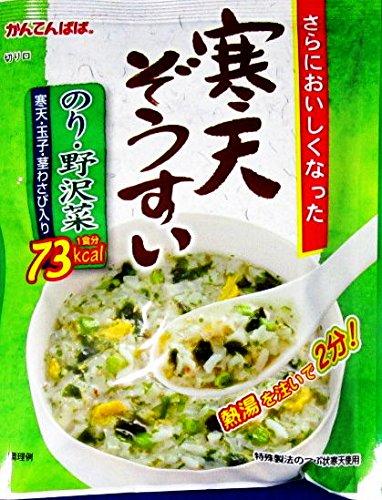 かんてんぱぱ 寒天ぞうすい のり・野沢菜(21gX10袋) 4個セット