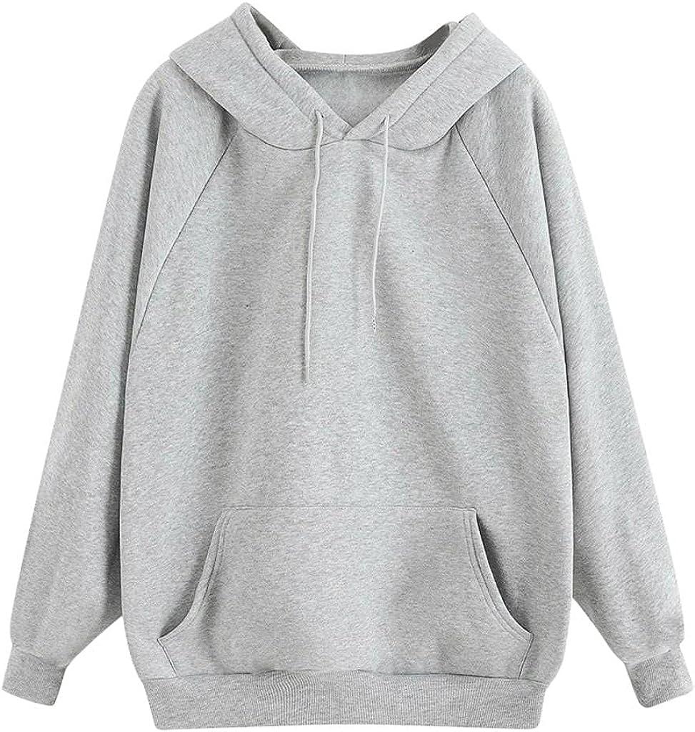 Fudule Cute Hoodies for Teen Girls Casual Solid Sweatshirts Women Lightweight Fleece Hoodies 2021 Long Sleeve Shirts Top