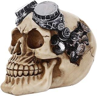 Creative Simulation Resin Skull Halloween Skull Props Decoration Collectible Skull Gift Desktop Figurine Party Supplies Beige