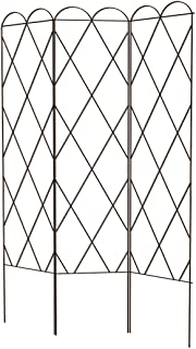 Panacea Tri Fold Plant Support Trellis, Brown, 64