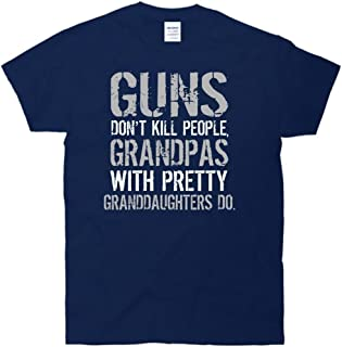 New Way 447 - Unisex T-Shirt Guns Don't Kill People Grandpas With Pretty Granddaughters Do