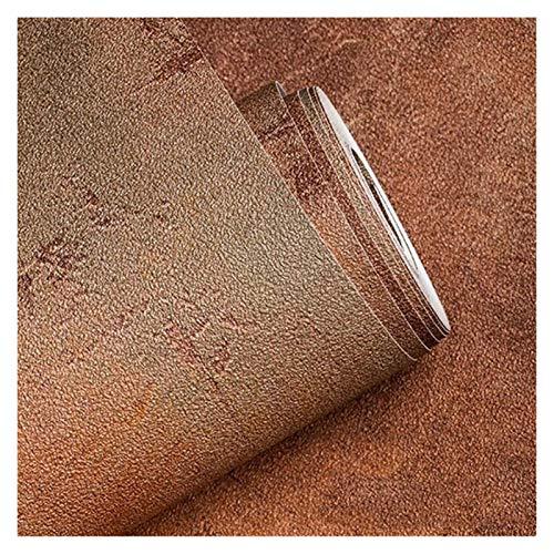 HYCSP Retro Plain Grau Cement Vinyltapete for Wände Wohnzimmer Bar Cafe Restaurant Kleidung Shop-Hintergrund-Tapete Rollen (Color : Rust Yellow)
