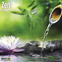 2020 Zen Wall Calendar by Bright Day, 16 Month 12 x 12 Inch, Peace Garden Harmony Motivational Inspiration
