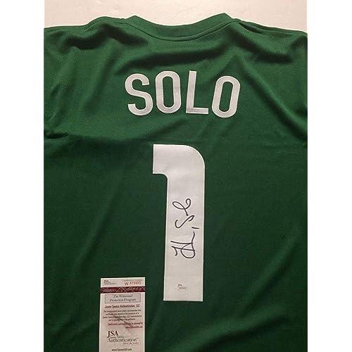 29a012fc4cd Hope Solo Autographed Jersey - Green USA USWNT COA - JSA Certified -  Autographed Soccer Jerseys