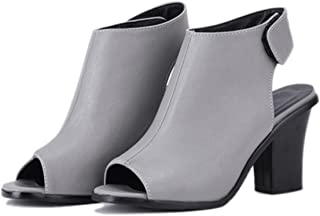 Plus Size 32-43 Women Sandals Gladiator High Heel Office Lady Pumps Woman Shoes Black White Gray SS831