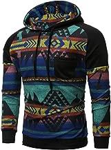YOCheerful Men Pullover, Mens Spring Sweatshirt Sportswear Long Sleeve Hooded Top Blouse Sports Pullover Sweatshirt