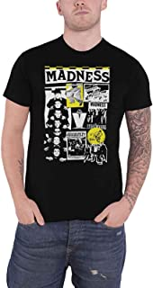 Madness T Shirt Newspaper Cuttings Band Logo 新しい 公式 メンズ