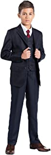 Shiny Penny Boys Formal 5 Piece Suit Set with Shirt & Vest