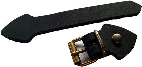 IPOTCH 2 St/ück Lederriemen Set Schnalle Verschluss Lederschnallen mit Karabinerhaken zum Aufn/ähen Schwarz